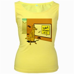 Kangaroo Shopping For Pocket Pcs Yellow Womens  Tank Top