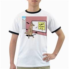 Kangaroo Shopping For Pocket PCs White Ringer Mens'' T-shirt