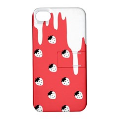 Melting White Chocolate (Rose) Apple iPhone 4/4S Hardshell Case with Stand