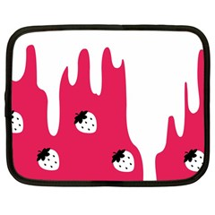 Melting White Chocolate (Pink) 12  Netbook Case