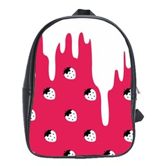 Melting White Chocolate (Pink) Large School Backpack
