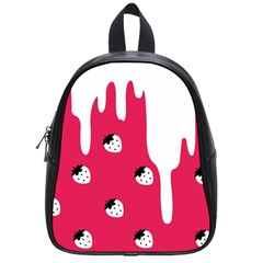 Melting White Chocolate (pink) Small School Backpack