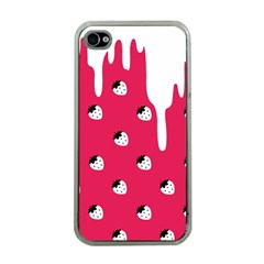 Melting White Chocolate (Pink) Apple iPhone 4 Case (Clear)