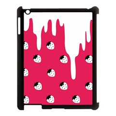 Melting White Chocolate (Pink) Apple iPad 3/4 Case (Black)