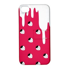 Melting White Chocolate (pink) Apple Iphone 4/4s Hardshell Case With Stand