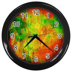 Abstract Obstruction Black Wall Clock