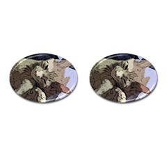 Cat Cartoonizer 2 Oval Cuff Links