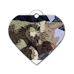 Cat Cartoonizer 2 Twin-sided Dog Tag (Heart)
