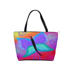 Abstract Butterfly Large Handbag