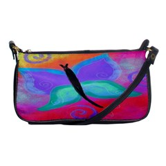 Abstract Butterfly Clutch Purse