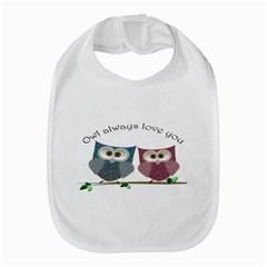 Owl Always Love You, Cute Owls Bib