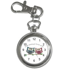 Owl always love you, cute Owls Key Chain & Watch