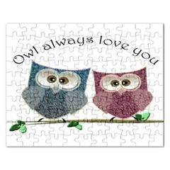Owl Always Love You, Cute Owls Jigsaw Puzzle (rectangle)