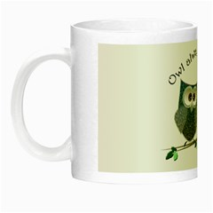 Owl always love you, cute Owls Glow in the Dark Mug