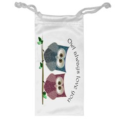 Owl Always Love You, Cute Owls Glasses Pouch