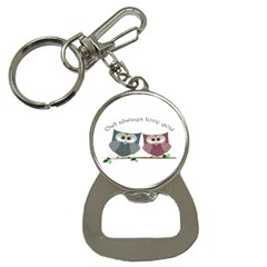 Owl always love you, cute Owls Key Chain with Bottle Opener