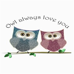 Owl Always Love You, Cute Owls 20  X 24  Unframed Canvas Print