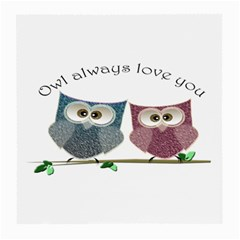 Owl always love you, cute Owls Single-sided Large Glasses Cleaning Cloth