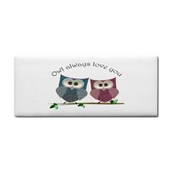 Owl always love you, cute Owls Hand Towel