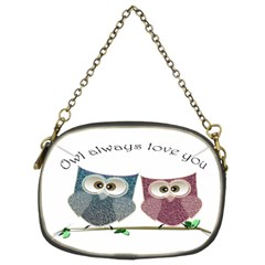 Owl always love you, cute Owls Twin-sided Evening Purse