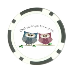 Owl always love you, cute Owls 10 Pack Poker Chip