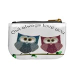 Owl always love you, cute Owls Coin Change Purse Back