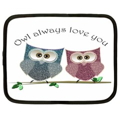 Owl Always Love You, Cute Owls 15  Netbook Case