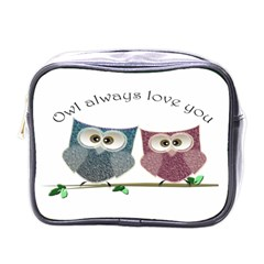 Owl Always Love You, Cute Owls Single Sided Cosmetic Case