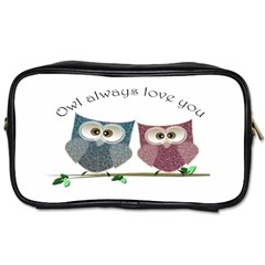 Owl Always Love You, Cute Owls Single Sided Personal Care Bag