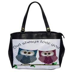 Owl always love you, cute Owls Single-sided Oversized Handbag