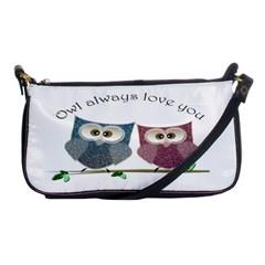 Owl Always Love You, Cute Owls Evening Bag