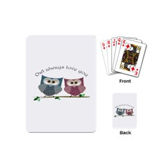 Owl Always Love You, Cute Owls Playing Cards (mini)