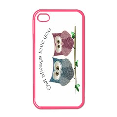 Owl always love you, cute Owls Apple iPhone 4 Case (Color)
