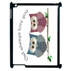 Owl always love you, cute Owls Apple iPad 2 Case (Black)