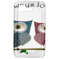 Owl always love you, cute Owls HTC Incredible S Hardshell Case