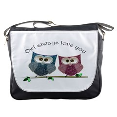 Owl always love you, cute Owls Messenger Bag