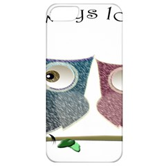 Owl always love you, cute Owls Apple iPhone 5 Classic Hardshell Case