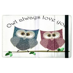 Owl always love you, cute Owls Apple iPad 3/4 Flip Case