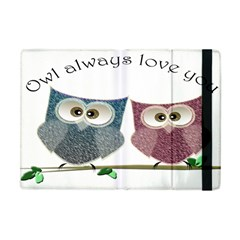 Owl always love you, cute Owls Apple iPad Mini Flip Case