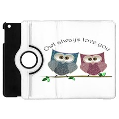 Owl always love you, cute Owls Apple iPad Mini Flip 360 Case