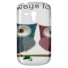 Owl always love you, cute Owls Samsung Galaxy S3 MINI I8190 Hardshell Case