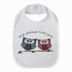 Owl Always Love You, Cute Owls Bib
