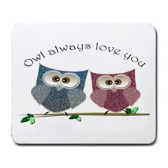 Owl always love you, cute Owls Large Mouse Pad (Rectangle)