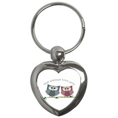 Owl always love you, cute Owls Key Chain (Heart)