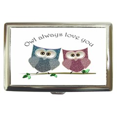 Owl always love you, cute Owls Cigarette Box
