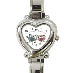 Owl Always Love You, Cute Owls Classic Elegant Ladies Watch (heart)
