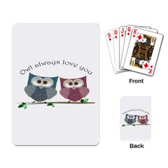 Owl always love you, cute Owls Standard Playing Cards