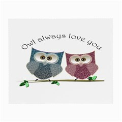 Owl always love you, cute Owls Twin-sided Glasses Cleaning Cloth