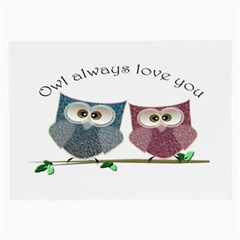 Owl Always Love You, Cute Owls Twin Sided Handkerchief