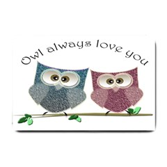 Owl Always Love You, Cute Owls Small Door Mat